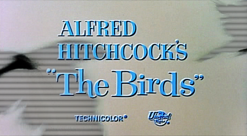 """The Birds"" trailer screenshot. Public domain, via Wikimedia Commons."
