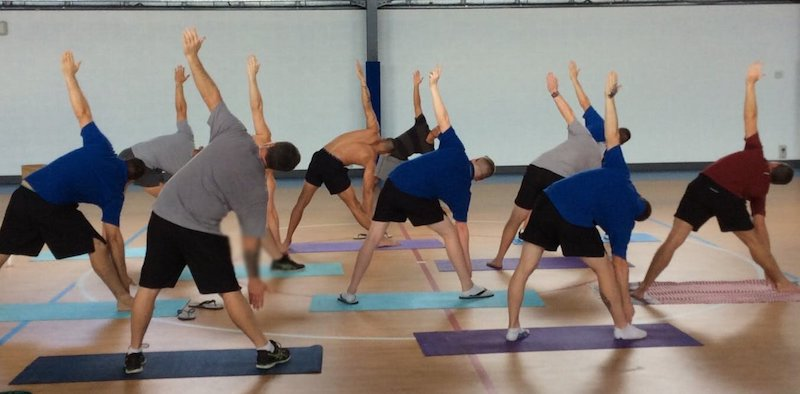The participants in the eight-week yoga trial program in Canberra's Alexander Maconochie Centre prison. Author provided
